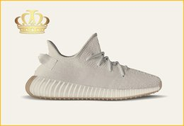 Wholesale media stocks - Limited Edition SPLY-350 Kanye West Signature Running Shoes,Designer 350 V2 Sesame Butter World Debut Sport Shoes In Stock With Original Box