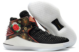 a1863c25534 2019 New 32 XXXII CNY Chinese New Year Men Jumpman Basketball Shoes J32 PF MVP  Black Cement Red Russ Russell Westbrook Gold Mens Sneakers discount russell  ...
