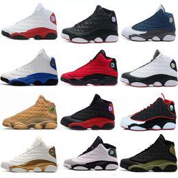 13 13s zapatos de baloncesto para hombre Phantom Hyper Royal Italia Azul Burdeos Flints Chicago Bred DMP Trigo Marfil de oliva Negro Gato Hombres Tamaño 14 desde fabricantes