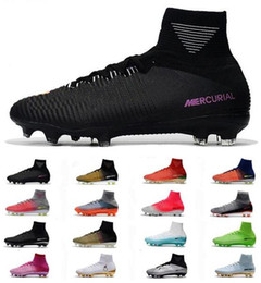 peach new mercurial superfly Promo Codes - New Top Mercurial ACC Superfly V CR7 FG Mens Soccer Shoes Cristiano Ronaldo Football Boots High Heel Men Football Shoes Cheap Soccer Cleats