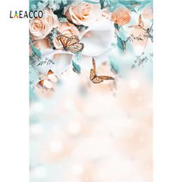 2019 фотографии фоны бабочки Laeacco Buerfly Flowers Light Bokeh Baby Newborn Photography Backgrounds Customized Photographic Backdrops For Photo Studio