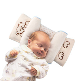 Wholesale buckwheat pillows - Baby Adjustable Pillow Prevent Flat Head Newborn Colored Cotton Shaping Pillows With Buckwheat Filler Sleeping Head Support