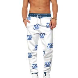 2018 recién llegado de los hombres de la moda 3D número pantalones impresos  de alta calidad de longitud completa cintura recta plana cintura elástica  ... 2bdcb3cfe1b8