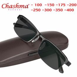 b49d24dba55d6 Myopia Sunglasses Photochromic Finished Men Women Myopia Eyeglasses Frame  with color lens Sun glasses Eyewear -1.0 -1.5