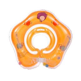 Anillo infantil de natación online-2018 Nuevo Bebé Accesorios de Natación Anillo de Cuello de Natación Anillo de Tubo de Bebé Anillo de Seguridad Infantil Cuello Flotador Círculo Para Bañarse Inflable