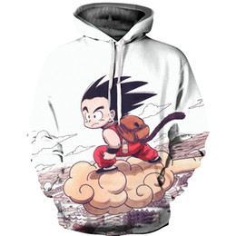 Wholesale Kids Pullover Sweatshirts - 3D Hoodies Mens Womens Anime Dragon Ball Z Hooded Sweatshirts Kid Goku 3d Printed Pullover Outerwear