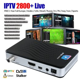 Wholesale Dvb Tv Box - IPHD Super IPTV Box IPTV subscription with 2800+ Arabic European USA Sport Live Channels Linux OS with DVB-S2 IP Streaming Set Top Box