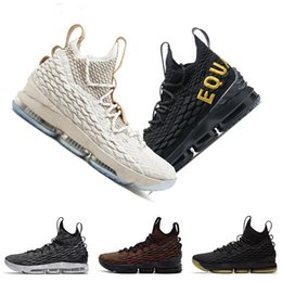new styles d9814 76581 New james Herren Basketball Schuhe Ghost Ashes Equality Crimson City  Edition schwarz gum lebrons 15 Turnschuhe Sport Turnschuhe Größe 7-12  Rabatt größe 15 ...