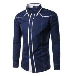 2020 camisa de vestir grande para hombre Camisa de hombre nueva marca Camisas de manga larga de gran tamaño para hombre al por mayor Casual Hit Color Slim Fit Camisas de vestir para hombre negras Xxl camisa de vestir grande para hombre baratos