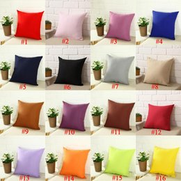 kissenschuhe Rabatt Einfarbig Kissenbezüge Kissenbezug Einfarbig Leinen Mode Büro Sofa Stuhl Heimtextilien Kissenbezug 16 Farben