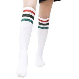 fc519d53d Cute Stripe Socks Thigh High Thick Lovely Girls Princess Knee High Long  Socks Women Over The Knee