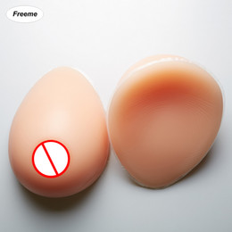 Wholesale Silicone Boob Fake Breast - Freeme False breast 800G C cup Artificial Silicone Breasts Forms fake boobs for shemale crossdresser L size 1 pair breasts