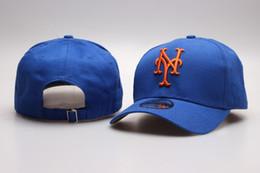 caps ny azul Desconto One Piece Men Mets Snapback Chapéus Com Viseira de Golfe Carta Bordada NY Logotipo Esporte Ajustável Hip Hop Brandsl Bonés de Beisebol Em Azul Colore