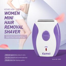 Rasoirs rasoirs électriques pour dames en Ligne-Kemei Épilateur rechargeable pour femme rasoir électrique épilateur en laine de rasoir pour le visage corps épilation dame rasage machine
