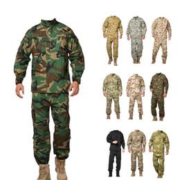 uniformes do exército por atacado Desconto Camisa tática + calças uniformes uniformes do exército uniformes por atacado de camuflagem dos EUA