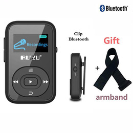 Argentina RUIZU X26 Clip Bluetooth Reproductor de MP3 8GB 1.1 '' Sport Bluetooth reproductor de música mp3 Grabadora de voz Radio FM Compatible con tarjeta SD + brazalete cheap mp3 player band Suministro