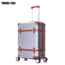 """Wholesale 24 Spinners - TRAVEL TALE 20""""24""""26""""28"""" inch abs vintage trolleys suitcase hardside spinner rolling luggage bag on wheels"""