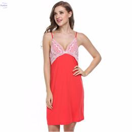 Наколенники онлайн-Лед шелк скольжения женщина сна платье Ночные рубашки Ночные рубашки Ночные рубашки плюс размер ночная рубашка длиной до колен V-образным вырезом пижамы пижамы 25z