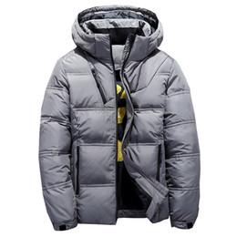 Aktiv Mann Winter Herbst Jacke 90% Weiße Ente Unten Jacken Männer Mit Kapuze Ultra Licht Unten Jacken Warme Outwear Mantel Parkas Im Freien Parkas