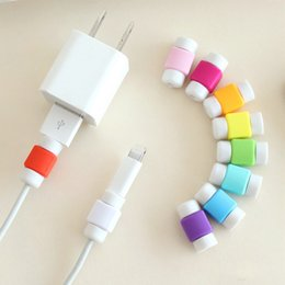 Wholesale Protection Data - 300pcs USB Data Charger Cable Silicone Saver Protector Headset Protection Earphone Wire Cord Protective For universal smart phone