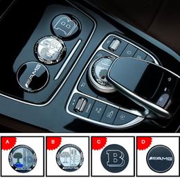 3D métal amg apple tree Center Console Multimédia Bouton Décoratif autocollants couverture pour Mercedes BZ GLE C E GLC250 C200 E300 w205 ? partir de fabricateur