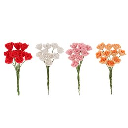 Wholesale Diy Doll Flowers - New 1 12 Scale Dollhouse Miniature Clay Rose Flower Bunch Dollhouse Doll Accessory Craft Micro Landscaping Decor DIY Toys Gift