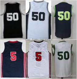 Wholesale Bruce High Quality - High Quality 50 David Robinson Jersey Throwback Midshipmen College Basketball 12 Bruce Bowen Jerseys Black Blue White