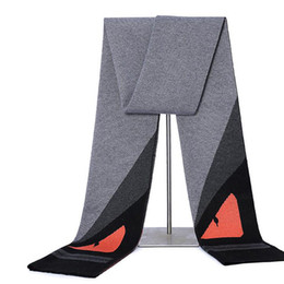 Hiver Europe Style Diable Yeux Chauds Doux Hommes Écharpe De Luxe Designer D'affaires Longues Écharpes De Mode Hommes Châle Écharpe ? partir de fabricateur