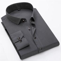 2018 Herbstmode New Black Button Umlegekragen Langarm Business Formale Männer Weißes Kleid Shirts Männer Tops Asiatische Größe von Fabrikanten