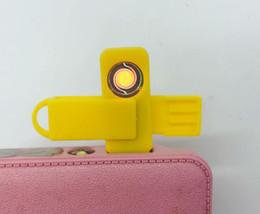 mini encendedor recargable Rebajas El más reciente USB Mini cigarrillo electrónico recargable Más claro giratoria sin llama Claro 3 colores para las Herramientas de fumadores viaje regalo precio de fábrica