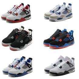 brand new 1ef19 e7ca9 ¡Caliente! Hombre Baloncesto 4 Zapatos Zapatillas Deportes Baloncesto  Sneaker US7-12 Hombre Running Sneakers IV Outdoor Sports Athletic Sneakers