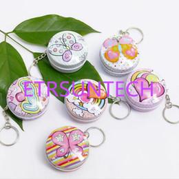 mini boîte à bonbons ronde Promotion Portable Mini belles boîtes à pilules de forme ronde avec porte-clés Boîte en métal mignon pour boîtes de boîtes à bonbons petit thé QW7794