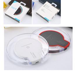 Cargador inalámbrico Qi para Iphone X 8 Plus Cargador inalámbrico ultra delgado para Samsung S8 edge S8 Plus Pad de carga rápida Mini con paquete al por menor desde fabricantes
