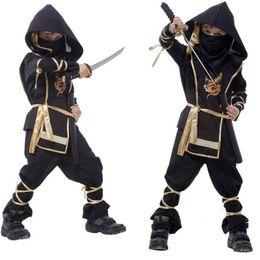 2019 costumes de super-héros féminins pour enfants Enfants Ninja Costumes Halloween Party Boys Filles Guerrier Furtif Fête des Enfants Cosplay Costume Assassin