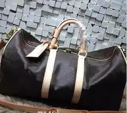 ee0bd5da9 Keepall bolsa de viaje de equipaje Damier grafito PU bolso de cuero de los hombres  bolsas de viaje para hombre de viaje bolsa de lona para hombre bolsa de ...