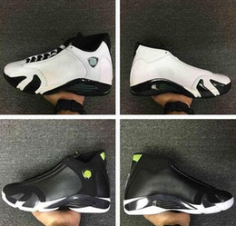 Wholesale cheap black candy - 2017 14 Men Basketball Shoes Sneakers Forest Green Red Grey 100% Original Quality 14s Candy Cane Cheap Sale online