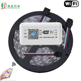 Wholesale 15m Led Strip Controller - 15M WIFI LED Strip 5050 Non Waterproof 60LED M Magic Home WIFI Controller Smart Phone Control 10M 5M Lighting Diode Tape