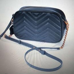 ¡Envío gratis! Nuevo diseñador de las mujeres de cuero genuino de cuero de vaca bolsos de moda ola bolso con cadena 447632 448065 desde fabricantes
