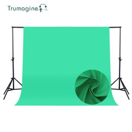 Wholesale green fabric background - 1.6*4M 5.2*13Ft Photo Studio Background Green Screen Photography Backdrop Background Non woven Fabric Chroma Key Backdrops
