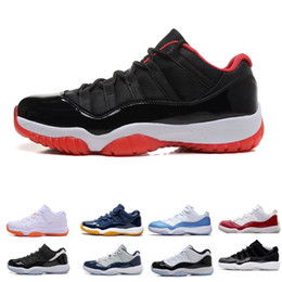 Wholesale martial arts universities - New 11 11s men Basketball Shoes Chicago gym red Midnight Navy PRM Heiress gamma University blue Bred Concords sports Sneaker