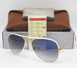 Argentina Diseñador Classic Pilot Sunglasses Gafas de sol Gafas para hombre Womes Full Color Tortoise Leopard 58mm Gradient Brown Glass Flash Lenses Suministro