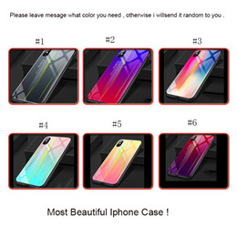 DHL shipping Gradient For IPhone X 8 6 7plus Scratchproof TPU Glass Hard Shell Phone Case 6color Cool For IPhone9