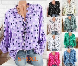 b99aa661141 Women Fashion Printed Floral V-neck Casual Top Long Sleeve Casual Blouse  LooseT-shirt Clothing Plus Size S M L XL 2XL 3XL 4XL 5XL