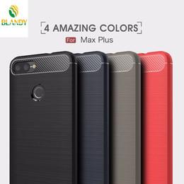 Casos de asus zenfone online-Para Asus Zenfone Max Pro M1 ZB601KL Funda de silicona para teléfono con fibra de carbono Para 5Z ZS620KL ZE620KL Plus ZB570TL