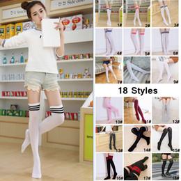 15a01e52c08 Discount girls school socks - Girl Girl Stripes Stocking Student Over Knee  Thigh Long Tube Socks