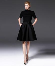 78edb966482d Europa e Stati Uniti 2018 Primavera Estate New Dress Classic Piccolo abito  nero