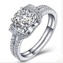 e03f0a0d9a13 Cásate conmigo Jewlery Style 1Ct Corte de diamantes sintéticos Anillo de  compromiso Mujer Anillo de bodas 925 Anillo de plata al por mayor