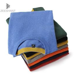 Wholesale Mens Wool Jerseys - ZEESHANT 2018 Spring Solid Color Pullover Men O Neck Sweater Men Long Sleeve Jersey Mens Sweaters Casual Dress Brand Knitwear