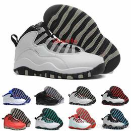 Wholesale Bonds Discount - 2017 High Quality 10 X Basketball Shoes Women Men Discount J10 X Sport Canvas Real Authentic Sport Shoes 10s Sneakers US 8.0-13