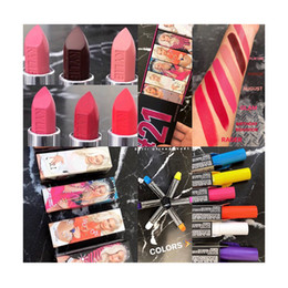 best gloss lipstick Promo Codes - Cosmetics 21st Birthday Collection hello 21 lip gloss lipstick sipping pretty eyeshadow best quality free shipping